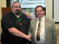 SACC Chairman Bill Power pictured presenting award to Niall Brownen