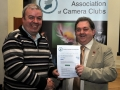 SACC Chairman Bill Power pictured presenting award to Paul Flynn