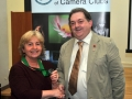 SACC Chairman Bill Power pictured presenting award to Viv Buckley
