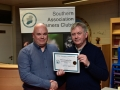 Kiaran O'Mahony receiving Certificate for best BW Panel for Blackwater Photographic Society
