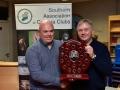 Kieran O'Mahony receiving the Award for best BW Panel to Blackwater Photographic Society