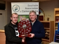 Presentation of Trophy to Blarney Photographic club for best colour print panel