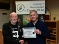 Rory O'Connor receiving Certificate for Blarney Photography Club