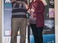 SACC Secretary David Barrie presenting award to Breda O'Mullane