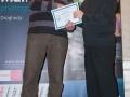 SACC Secretary David Barrie presenting award to Gerry Butler