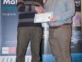 SACC Secretary David Barrie presenting award to Kieran O'Mahony