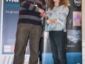 SACC Secretary David Barrie presenting award to Suzanne Merrigan