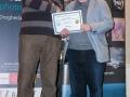 SACC Secretary David Barrie presenting award to Teddy Sugrue