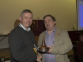 SACC Chairman Richie Dwyer presenting Bill Power with the overall winning trophy