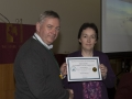 SACC Chairman Richie Dwyer presenting Breda O Mullane with her certificate