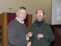 SACC Chairman Richie Dwyer presenting Christopher Bourke with his medal