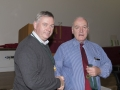 SACC Chairman Richie Dwyer presenting Jim Mc Sweeney with his medal