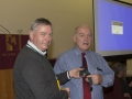 SACC Chairman Richie Dwyer presenting Jim McSweeney with his medal