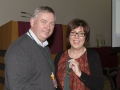 SACC Chairman Richie Dwyer presenting Micheline Murphy with he medal