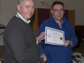 SACC Chairman Richie Dwyer presenting Seamus Mulcahy with his certificate